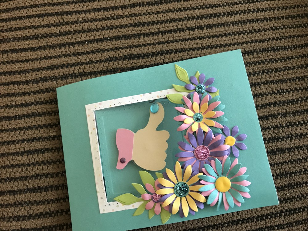 Pop up / fly out greeting card