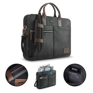 Solo Brookfield Leather Slim Briefcase